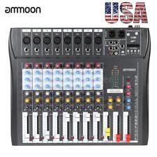 ammoon USB Mixing Mixer Console 8 Channel Professional Live Studio Audio B5S2