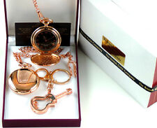 Paul Weller Signed 18k Rose Gold Clad Jam Pocket Watch Glass Guitar Keychain