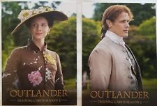 Outlander Season 2 SDCC 2017 Promo Card set of SDCC1 & SDCC2 + random bonus card
