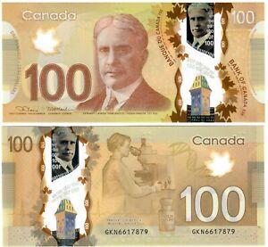 "Canada 100 Dollars 2012 (2021) UNC ""GKN"" Lane-Macklem"