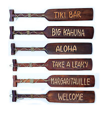 "Tiki Bar Wood Paddle Beer Nautical Sign Pub Man Cave 39"" Assorted Sayings"