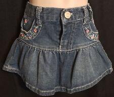 Guess Toddler Girl's Denim Floral Skirt 18 Months
