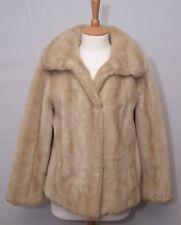 Marks & Spencer women's 70's vintage blonde brown faux fur mink jacket uk 14