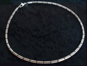 Titanium Titan Halskette Kette Hämatit Silber Coole Surfer Biker Herren Männer 3