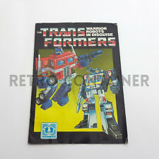 TRANSFORMERS G1 Catalog Folder Poster - 1984 - Warrior Robots in Disguise Hasbro