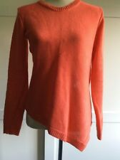 Ladies Jigsaw Long Sleeve Jumper 100% Linen Orange Size S