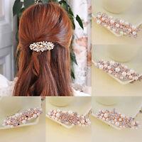 Fashion Women Crystal Rhinestone Flower Butterfly Barrette Hair Clip Hairpin