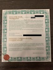AUTHENTIC ROLEX DATEJUST 69178 FULL ONE YEAR WARRANTY GUARANTEE CERTIFICATE