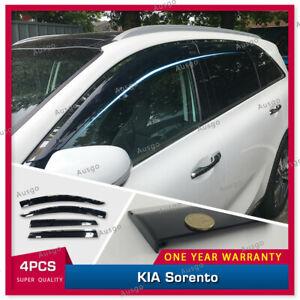 AUS Stainless Steel Weather Shields Weathershield for KIA Sorento 15-20 #T