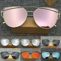 Women's Retro Metal Frame Mirrored Sunglasses Designer Outdoor Glasses Eyewear