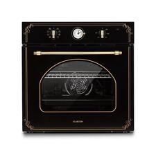 Retro Design Einbaubackofen Grill Unter Oberhitze 50-250°C Umluft schwarz