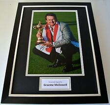 Graeme McDowell SIGNED FRAMED Photo Autograph 16x12 display Golf Memorabilia COA