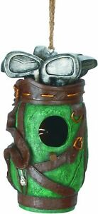 """New Spoontiques GOLF BAG Birdhouse Durable Resin Holiday Dad Mom Teen gift 9"""""""