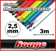 GR2.5-3# gaine thermorétractable rouge 2,5mm 3m ratio 2/1