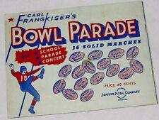 Band Sheet Music 16 SOLID MARCHES Carl Frangkiser's Bowl Parade School Concert