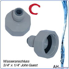 """Wasseranschluss 3/4"""" Gewinde x 1/4"""" Schlauch John Guest / DM Osmose Wasserfilter"""