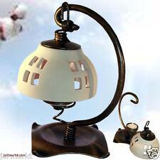 Teelicht-Lampe Keramikschirm weiß - Stehlampe - Teelichtständer -Teelichthalter
