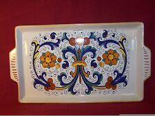 "Deruta ~ Ceramiche ~ Rectangular Serving Platters Tray with Handles 14"" X 8 1/2"""