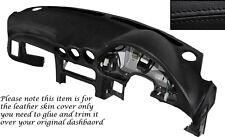 BLACK Stitch DASH dashboard cuoio pelle copertura Si Adatta Mitsubishi GTO 3000GT 92-99