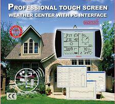 Centro meteorológicos profesionales de pantalla táctil con interfaz PC