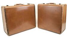 2 Vintage Rare Samsonite Shwayder Bros Denver / Detroit Hard Suitcase Luggage