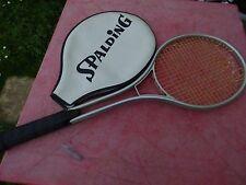 raquette de tennis Spalding metal avec housse  vintage  racquet