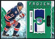 Chris Drury 2012-13 Upper Deck Frozen Artifacts GU Patch Jersey NY Rangers /36