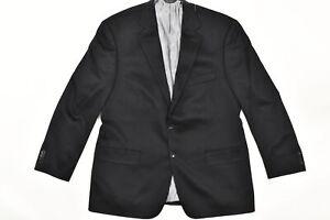 Harold Powel Men's Size 44  Blazer 2-Button Black Cashmere Solid