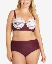 d781cbe8327 NWT Raisins Curve Swimsuit Bikini 2pc set Plus Size 24W Lush Bra Underwire