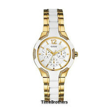 NEW GUESS WATCH for Women * White Dial w/Gold Accents * Silicone Band * U0556L2