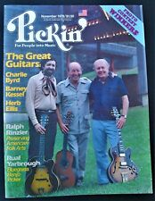 PICKIN' MAGAZINE NOVEMBER 1979 CHARLIE BYRD HERB ELLIS BARNEY KESSEL YARBROUGH