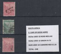 South Africa 1d Rose Red SG23a Fine Used Plus Extras J1560