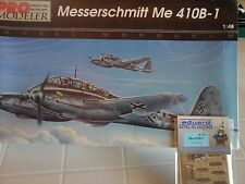 MESSERSCHMITT ME410B-1 BOMBER 1/48 SCALE PRO MODELER MODEL+N.2 PHOTOETCHED PARTS