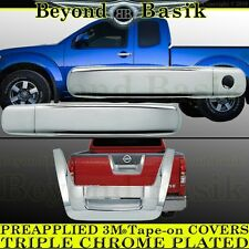 Fits 2005-2012 NISSAN FRONTIER Chrome 2 Door Handle(1k)+Tailgate COVERS Overlay