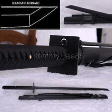 Japanese Samurai Ninja Sword 1060 Carbon Steel Very Sharp Black Blade Full Tang