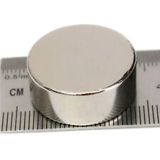 2pcs Large Diameter 20mm x 4mm Thick Strong Rare Earth Neodymium Disc Magnets
