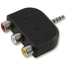 Connecteurs et câbles vidéo avec un connecteur RCA femelle 1: 3