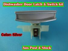 Dishwasher spare part Door Handle Latch &Switch Kit Suit Many Brand-silver(D132)
