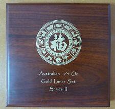 Lunar Series 2 monete in legno Box per 12 x trimestre 1/4 OZ monete d'oro