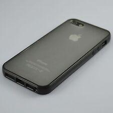 Black Ultra Slim Hard TPU Bumper Matte Clear Back Case Cover For iPhone 5 / 5s