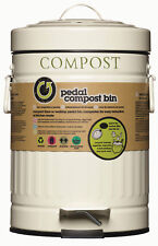 Kitchen Craft Living Nostalgia Cream Metal Foot Pedal Compost Bin & Odour Filter