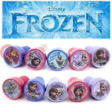 Disney Frozen Self Ink Stamps 10pc Set with Elsa Anna Olaf Stamp