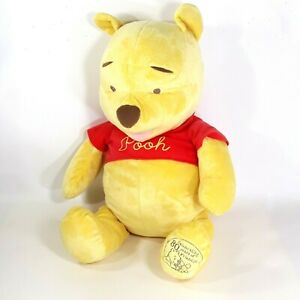 """Winnie the Pooh Large 24"""" Plush Bear Toy 80 Years of Friendship Anniversary 2005"""
