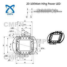 1W 3W 5W 10W 20W 30W 50W 100W High Power LED Deep Red Royal Blue Full Spectrum