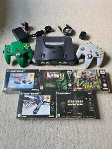 Nintendo 64 Console Bundle With 5x Boxed Games - PAL - N64