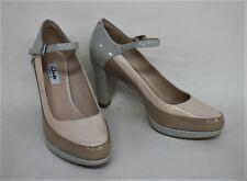 CLARKS Ladies Beige Green Buckle Ankle Strap Narrative Shoes Size UK6 EU39.5