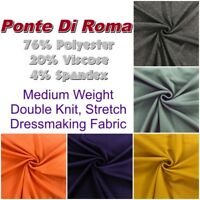 Patterned and Plain Ponte Di Roma Warm Stretch Knit Jersey Dress Fabric