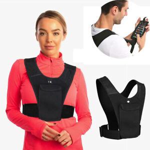Running Vest Phone Holder Front Shoulder Bag Pack Train Sport Unisex New