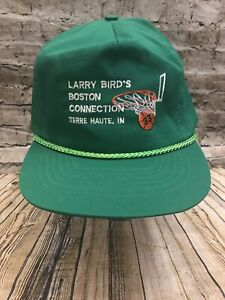 Vintage 80s Boston Celtics Larry Bird Boston Connection Mesh Trucker Hat Cap
