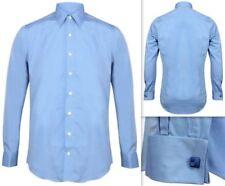 Camisas de vestir de hombre azules azules, talla 40